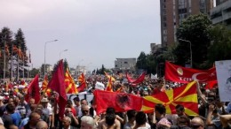 150517 Mazedonien Protest
